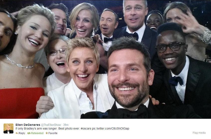 Photo: via Ellen's Twitter, obvs.