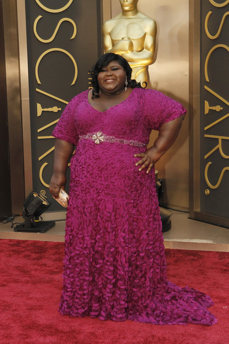 I love Gaborney, but I would have lost the belt. (Photo: www.oscars.go.com)