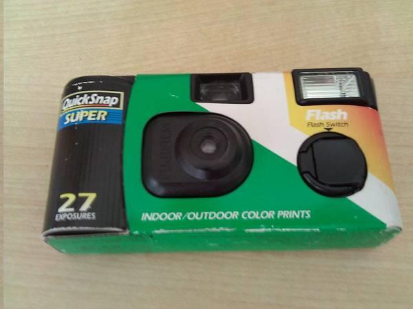 Disposable Camera with 27 photos left! For free! (via: Craigslist.)