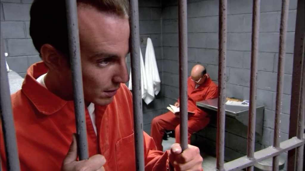 I'd write GOB a letter! (Screenshot from Arrested Development.)