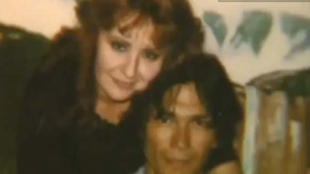 Nightstalker Richard Ramirez and his wife who married him in jail. She worked at a party supply store in Marin County and I bought Scotch tape from her once, with great excitement.
