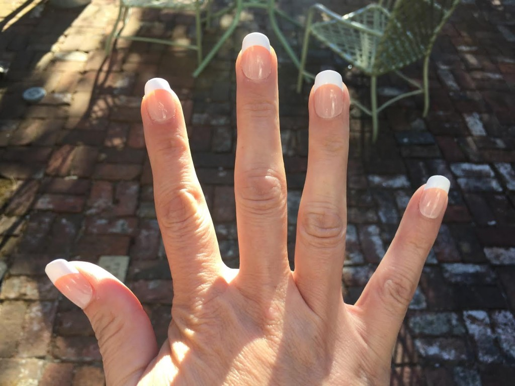 Behold the modern technology of glue-on nails.